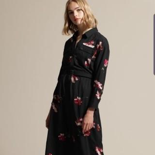 GRACE CONTINENTAL - グレースコンチネンタル  刺繍アーミーシャツワンピース 2019AW ブラック