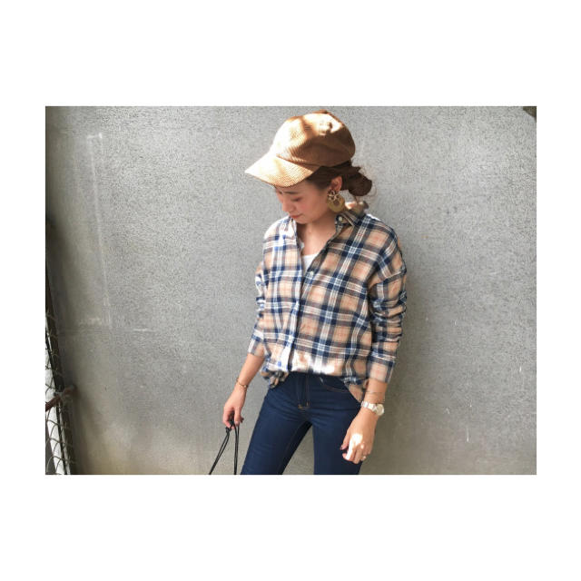GU(ジーユー)のフランネルチェックシャツ レディースのトップス(シャツ/ブラウス(長袖/七分))の商品写真