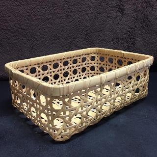 八つ目編み 竹かご A4サイズ