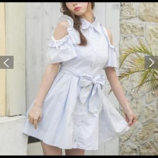 LIZ LISA - 明日削除LIZLISA/肩出しシャツワンピース/花柄刺繍/デート服に/匿名配送
