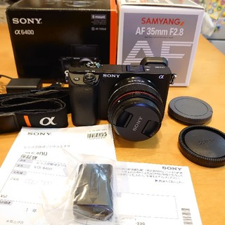 SONY - ソニー SONY α6400 +サムヤンAF 35mm F2.8 FE