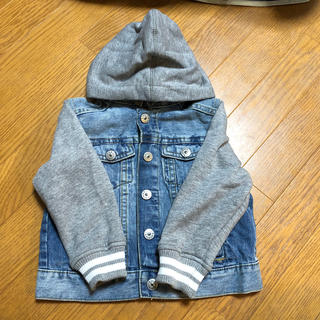 H&M - 袖切り替えデニムジャケット 100cm