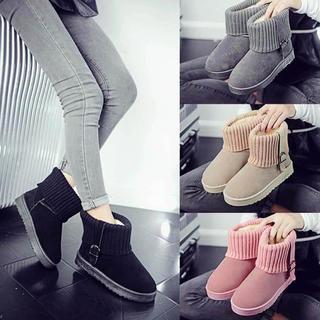 ムートン ブーツ 秋冬 ファーショートブーツ ニットブーツ(ブーツ)