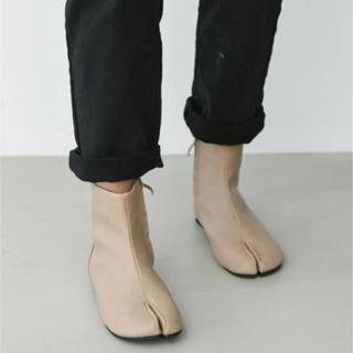 足袋ブーツ ベージュ 23.5センチ(ブーツ)