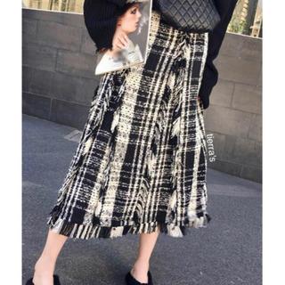 Mila Owen - import❁︎大人可愛い ツイード パネル ロングスカート