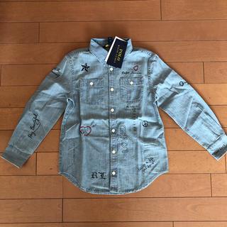 Ralph Lauren - 新品タグ付き ラルフローレン  ガールズ シャンブレーシャツ 120