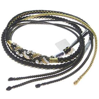 帯締め 振袖用 成人式に 黒×金