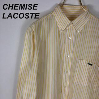 ラコステ(LACOSTE)の90's CHEMISE LACOSTE ストライプシャツ ビッグシルエット(シャツ)