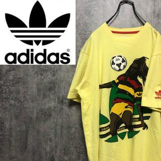 adidas - 【激レア】アディダスオリジナルス☆アフリカトレフォイルビッグロゴ刺繍ロゴTシャツ