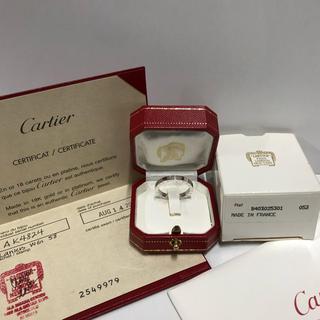 カルティエ(Cartier)の💝美品カルティエ ラニエール リング ホワイトゴールド58 ギャランティー付き(リング(指輪))