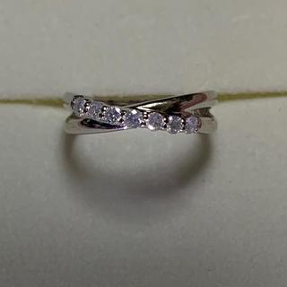 ホワイトゴールドk10 ダイヤモンドピンキーリング(リング(指輪))