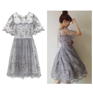 Lily Brown - 新品♡Lily Brown レトロフラワーレースワンピース