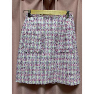 31 Sons de mode - 美品 トランテアンソンドゥモード ツイード台形スカート  ラベンダー 36