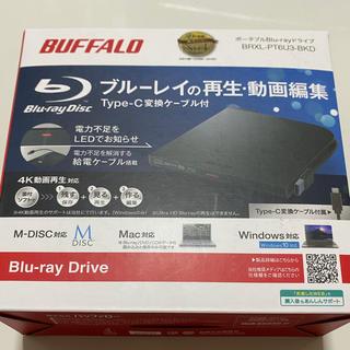 バッファロー(Buffalo)のBUFFALO ポータブルBlu-rayドライブ BRXL-PT6U3-BKD(ブルーレイプレイヤー)
