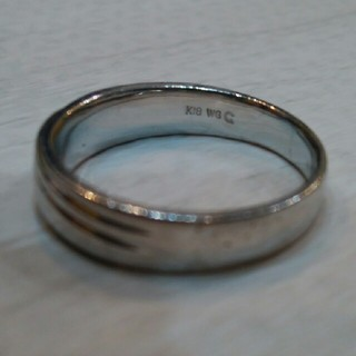 ユニセックスリング 18K  ホワイトゴールド(リング(指輪))