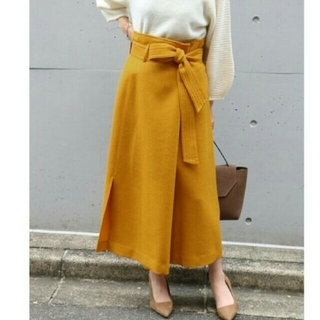 Noble - NOBLE  ウールフタックロングタイトスカート