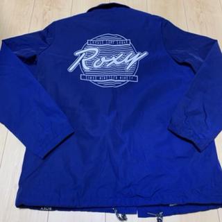 ロキシー(Roxy)の美品 ROXY コーチジャケット ネイビー M(ナイロンジャケット)