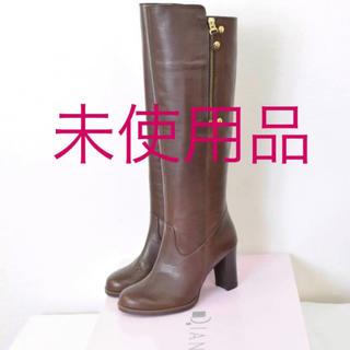 ダイアナ(DIANA)の未使用 ★ダイアナ DIANA 新品★22 レザー ロング ブーツ かねまつ  (ブーツ)