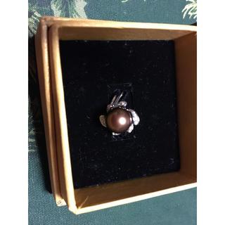 ハワイアンジュエリー レア茶ブラウンパールアクセサリー15号リング指輪斬新宝石(リング(指輪))