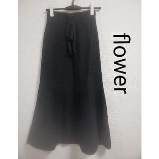 flower - flowerスカート  ブラック フリーサイズ