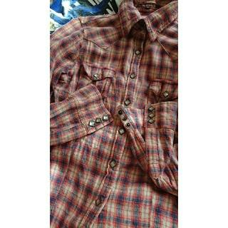 サンタモニカ(Santa Monica)のネルシャツ ウエスタンシャツ スタッズボタン アメカジ 古着  (ブラウス)