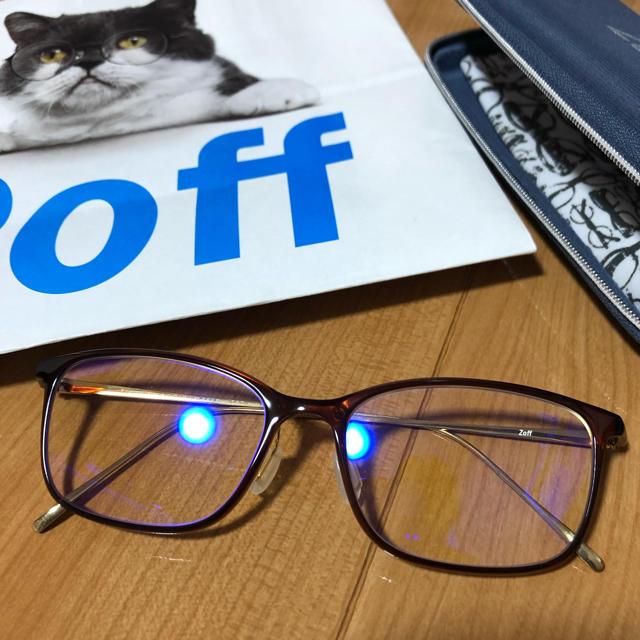 Zoff(ゾフ)のzoff ウェリントン型メガネ 度無し レディースのファッション小物(サングラス/メガネ)の商品写真