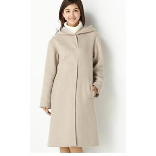 RU - 美品!ruアールユー フード付きバイカラーコート☆小さいサイズ