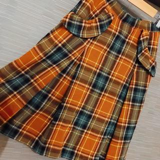 フランシュリッペ(franche lippee)のフランシュリッペ 冬物チェックスカート(ひざ丈スカート)