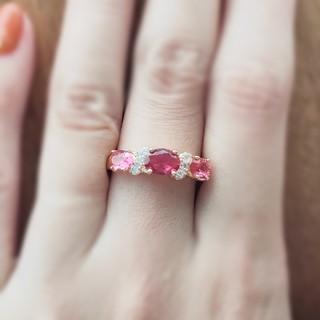 ピンクスピネル*リュクシーリング  Tiffany& Co.好きに❇(リング(指輪))
