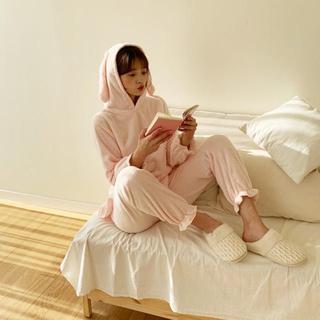 ディーホリック(dholic)の新品DHOLIC ディーホリック ノベルティ うさぎのルームウェア 部屋着ピンク(ルームウェア)
