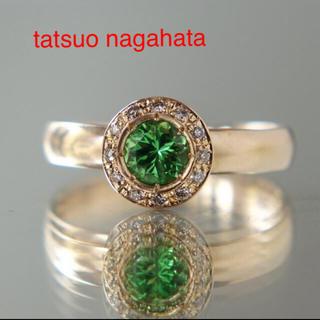 アッシュペーフランス(H.P.FRANCE)のタツオナガハタ グリーン ガーネット ダイヤモンド リング(リング(指輪))