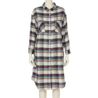 リリーブラウン(Lily Brown)のチェックロングネルシャツ(シャツ/ブラウス(長袖/七分))