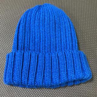ジーユー(GU)のGU◾️ジーユー ブルー キッズ ニット帽 54 防寒 暖かい(帽子)