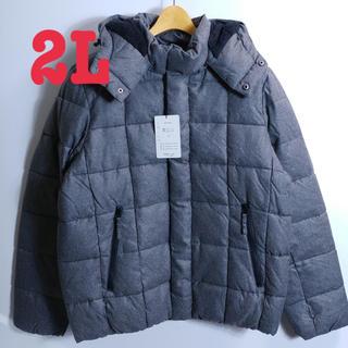 【新品】中綿アウター 2L メンズ ブルゾン ジャケット 6514 グレー(ダウンジャケット)