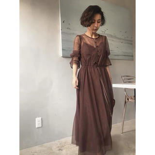 Ameri VINTAGE - アメリヴィンテージ TULLE SEE-THROUGH DRESS
