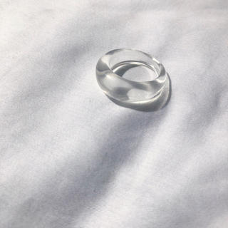 BEAUTY&YOUTH UNITED ARROWS - Narrow clear ring