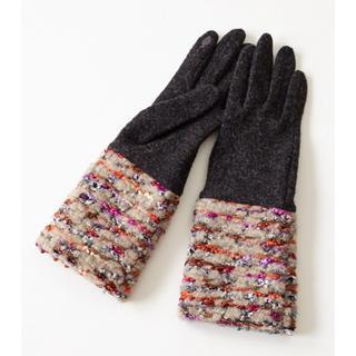 フリフ(ふりふ)のふりふ カラフルニットグローブ 手袋 新品未使用 美品(手袋)