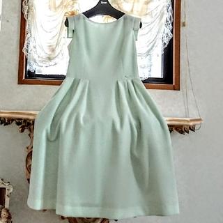 ルネ(René)のRene【洗える!】ふんわりワッフル生地ネームプレート付ドレス36(ひざ丈ワンピース)