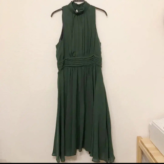 ZARA - 【お値下げ】ZARA ワンピース ドレス グリーン