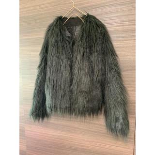 サンタモニカ(Santa Monica)の古着 ファーコート 黒(毛皮/ファーコート)