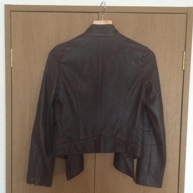 ヴィンテージ風ブラウンライダースJK レディースのジャケット/アウター(ライダースジャケット)の商品写真