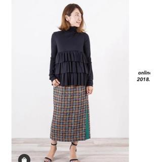 ドゥーズィエムクラス(DEUXIEME CLASSE)のyori 新品未使用 タグ付 スカート ヨリ 2018 ボトムス アウター ジレ(ひざ丈スカート)