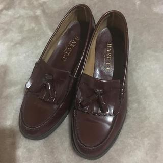 ハルタ(HARUTA)のHARUTA タッセルローファー エンジ 24.5センチ(ローファー/革靴)