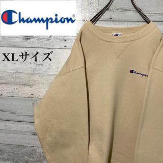 Champion - 【激レア】チャンピオン☆刺繍ワンポイントロゴ ビッグサイズ 裏起毛 スウェット