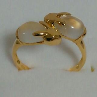 ジュエリーツツミ(JEWELRY TSUTSUMI)のjewelry TSUTSUMI ツツミ★K18 ムーンストーン うさぎ リング(リング(指輪))