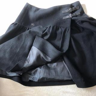 バーバリーブルーレーベル(BURBERRY BLUE LABEL)のバーバーリーブルーレーベル 黒ひざ丈スカート(ひざ丈スカート)