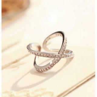 シルバー925 リング 指輪 18金 コーティング シルバーカラー(リング(指輪))
