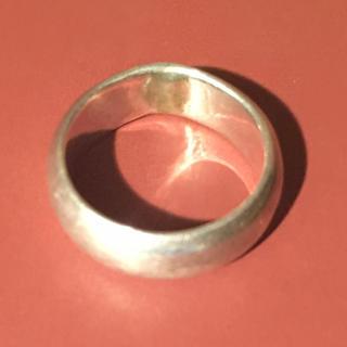 甲丸 シルバー925 リング  6号 ピンキー 小指 銀指輪 クリスマスギフト(リング(指輪))