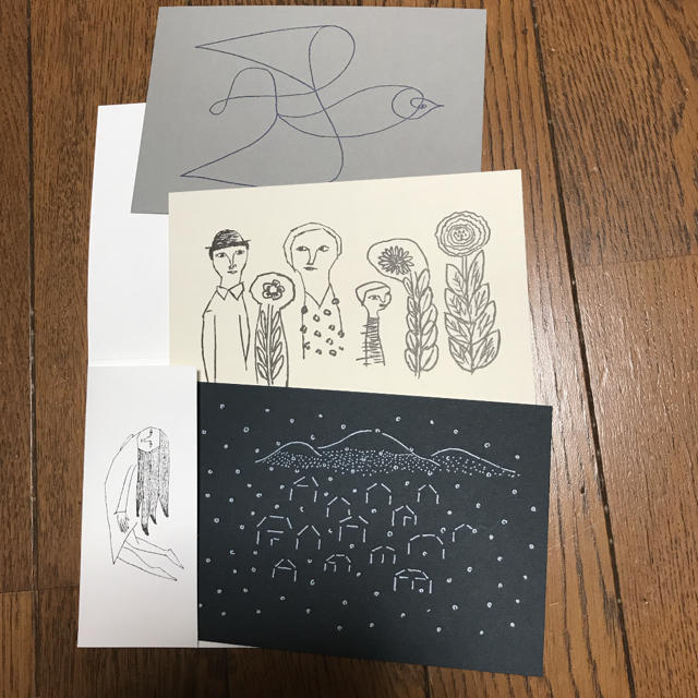 mina perhonen(ミナペルホネン)のミナペルホネン  つづく展 ポストカード 3枚セット エンタメ/ホビーの声優グッズ(写真/ポストカード)の商品写真