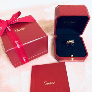 カルティエ(Cartier)の美品✨Cartier カルティエ✨K18 750 3連 トリニティ リング(リング(指輪))